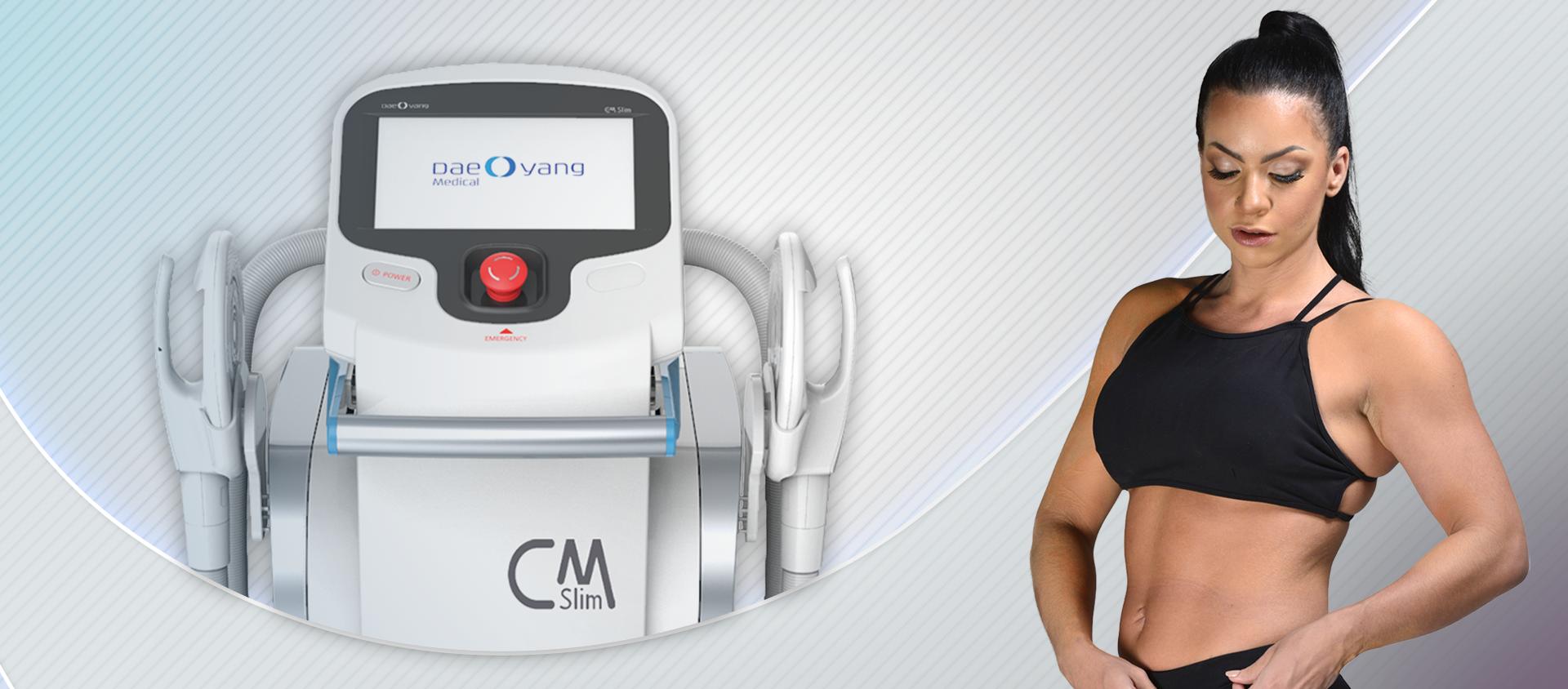 CMSlim tencologia de campo eletromagnético que tonifica fortalece e defini os músculos e reduz flacidez
